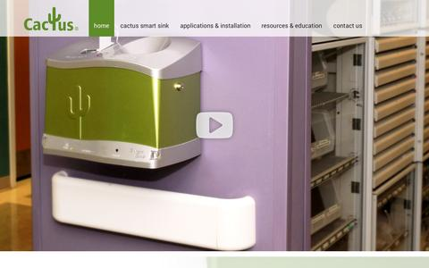 Screenshot of Press Page cactusllc.net - Pharmaceutical Waste Disposal Sink, Medical Waste Disposal, Smart Sink - captured Sept. 26, 2014
