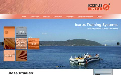 Screenshot of Case Studies Page icarus-training.co.uk - Case Studies | Cabin Crew Training Products | Icarus Training Systems - captured Nov. 25, 2016