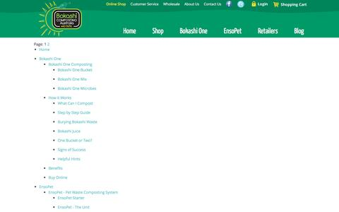 Screenshot of Site Map Page bokashi.com.au - Site Map - captured Nov. 23, 2016