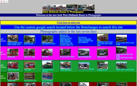 Screenshot of Home Page wmbusphotos.com - West Midlands buses in photographs - captured Jan. 31, 2016