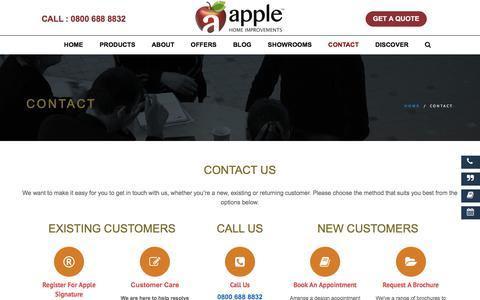 Screenshot of Contact Page applehomeimprovements.co.uk - Contact Us | Apple Home Improvements - captured April 26, 2018