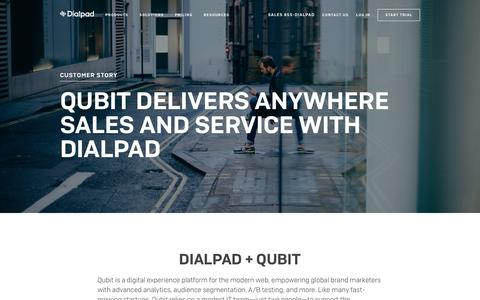 Qubit works from anywhere with Dialpad