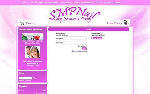 Screenshot of Login Page smpnail.eu - Login - Shop Mannu & Penny Store | Kit Ricostruzione Unghie - Nail Art - Gel - Smalti - Make Up | Shop Mannu & Penny Store | Kit Ricostruzione Unghie - Nail Art - Gel - Smalti - Make Up - captured Oct. 26, 2014