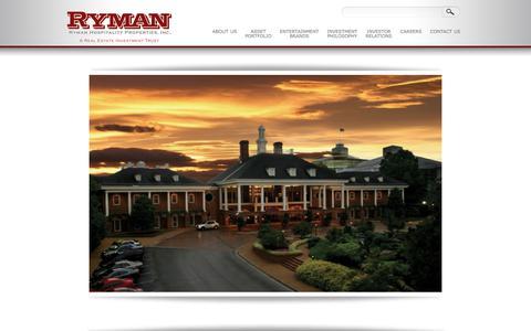Screenshot of Home Page rymanhp.com - RYMANHP - a real estate investment trust - captured July 17, 2017