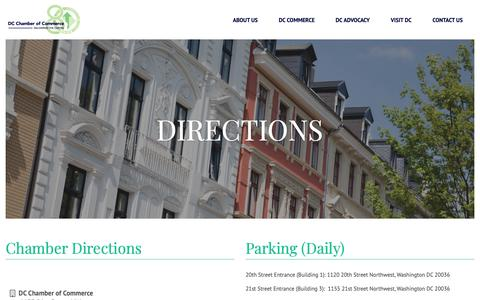 Screenshot of Maps & Directions Page dcchamber.org - Directions | DC Chamber of Commerce - captured Oct. 7, 2018