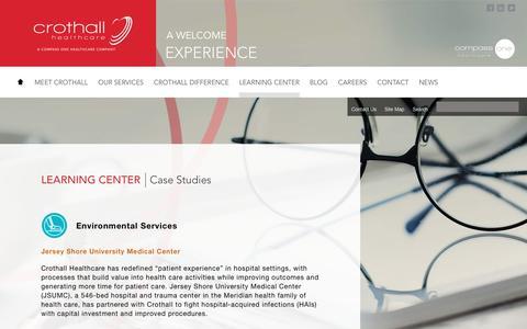 Screenshot of Case Studies Page crothall.com - Crothall Healthcare :: Case Studies - captured Dec. 16, 2018