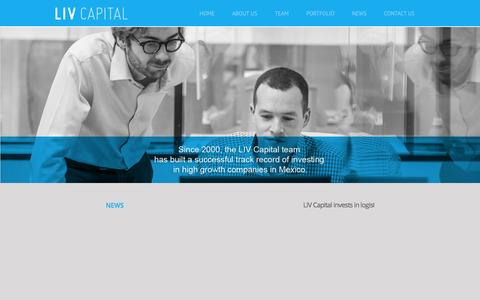 Screenshot of Home Page latinidea.com - LIV Capital - captured Oct. 1, 2014
