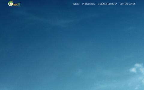 Screenshot of Home Page grupo9grados.com - Home - Promotora de Casas y Apartamentos en Panama - captured Sept. 30, 2014