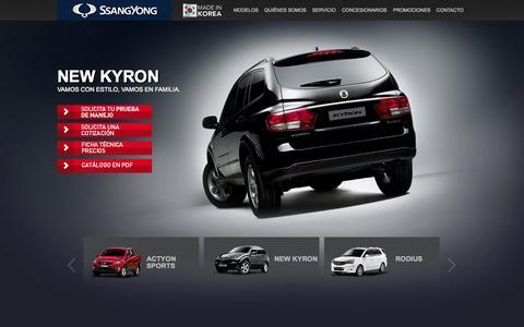 Screenshot of Home Page ssangyong.com.pe - SsangYong Perú - captured Sept. 25, 2014