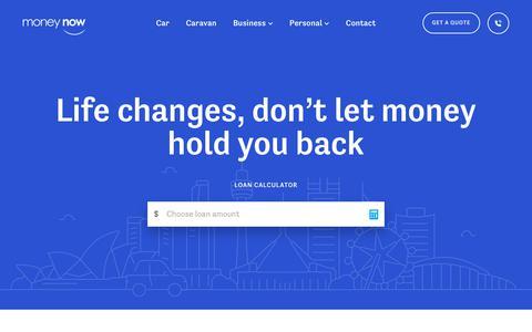 Screenshot of Home Page moneynow.com.au - Home   Money Now - captured Feb. 16, 2018