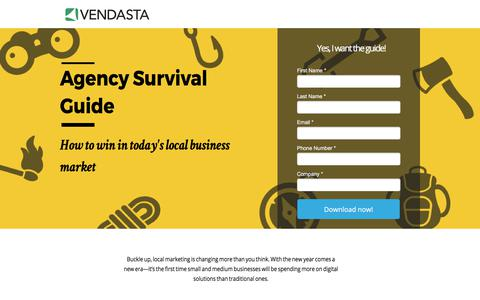 Screenshot of Landing Page vendasta.com - Agency Survival Guide - captured July 5, 2017
