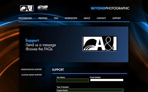 Screenshot of Support Page aandi.com - » Support - captured Oct. 3, 2014