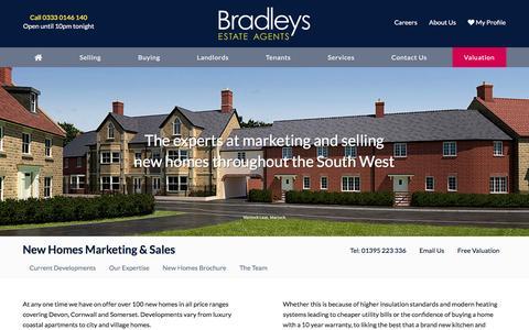 Screenshot of Developers Page bradleys-estate-agents.co.uk - New Build Homes | Bradleys Estate Agents - captured Sept. 4, 2016