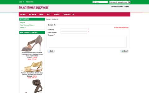 Screenshot of Contact Page preserveportnavasquay.co.uk - Contact Us : Women Shoes Clearance Online, Cheap Men Shoes , Outlet Boy Shoes, Clearance Girls Shoes - captured April 11, 2017