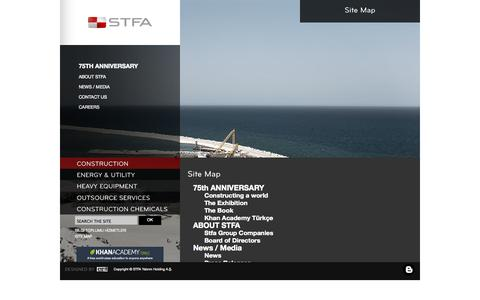 Screenshot of Site Map Page stfa.com - STFA - captured Oct. 3, 2014