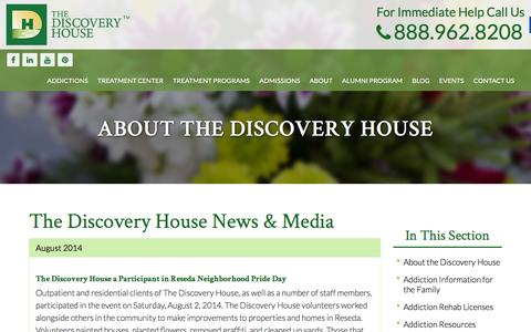 Screenshot of Press Page thediscoveryhouse.com - The Discovery House News & Media - The Discovery House - captured Feb. 15, 2016
