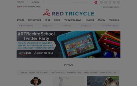 Screenshot of Press Page redtri.com - News for Parents | National - captured Aug. 15, 2019