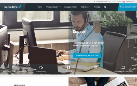 Screenshot of Support Page nostradamus.nu - Support - Nostradamus - captured Oct. 19, 2018