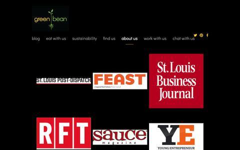 Screenshot of Press Page greenbeansalads.com - Media — Green Bean Salads, Healthy Eating & Healthy Living - captured Sept. 29, 2018