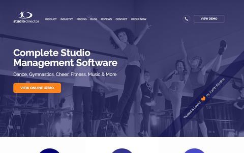 Screenshot of Home Page thestudiodirector.com - #1 Dance Studio Software - Save Money & Increase Revenue - captured Sept. 9, 2017