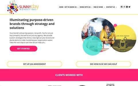 Screenshot of Home Page sunnydaymktg.com - Home - Sunny Day Marketing - captured Oct. 18, 2018