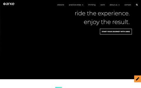 Screenshot of Home Page arke.com - Home • Arke - captured Oct. 10, 2018