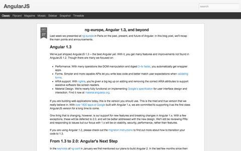 Screenshot of Blog angularjs.org - AngularJS - captured Oct. 29, 2014