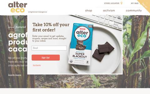 Screenshot of Blog alterecofoods.com - Blog                      – Alter Eco Foods - captured July 13, 2018