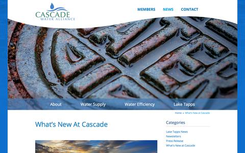 Screenshot of Press Page cascadewater.org - What's New at Cascade - Cascade Water - captured May 19, 2018