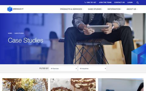 Screenshot of Case Studies Page brennanit.com.au - Brennan IT Case Studies   Brennan IT - captured Oct. 3, 2017