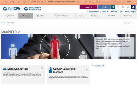 Screenshot of Team Page calcpa.org - Leadership - captured Jan. 24, 2016