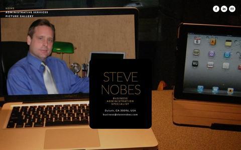 Screenshot of Home Page stevenobes.com - Steve Nobes - captured Feb. 18, 2016