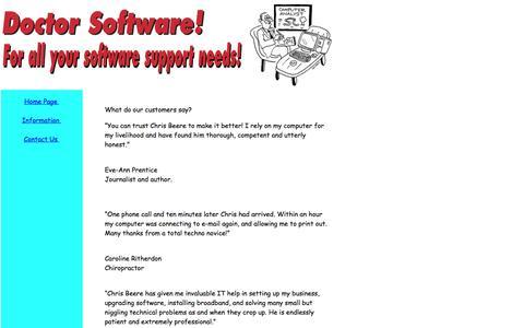 Screenshot of Testimonials Page doctorsoftware.co.uk - Doctor Software - Software health checks, troubleshooting. - captured Feb. 9, 2016