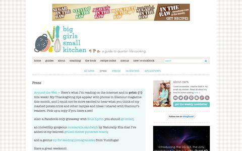 Screenshot of Press Page biggirlssmallkitchen.com - Press | Big Girls Small Kitchen - captured Sept. 19, 2014