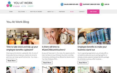 Screenshot of Blog youatwork.com - Blog | News & Events | Benefits & Information | You At Work - captured Sept. 20, 2018
