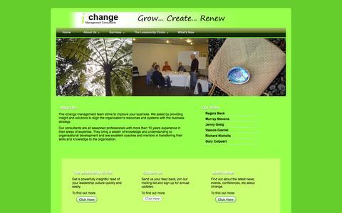 Screenshot of About Page ichange.co.nz - About Us | ichange Management Consultants - captured Nov. 26, 2016