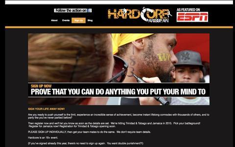 Screenshot of Signup Page hardcorecaribbean.com - Sign Up | Hardcore Caribbean - captured Sept. 30, 2014