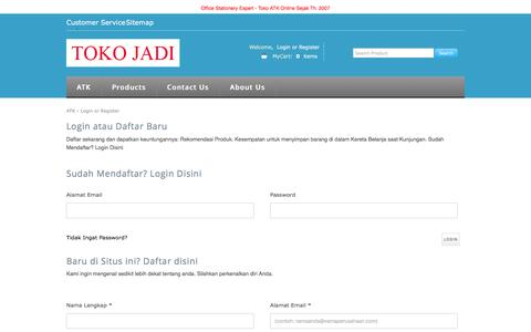 Screenshot of Login Page tokojadi.net - login - tokojadi.net - captured Aug. 18, 2016