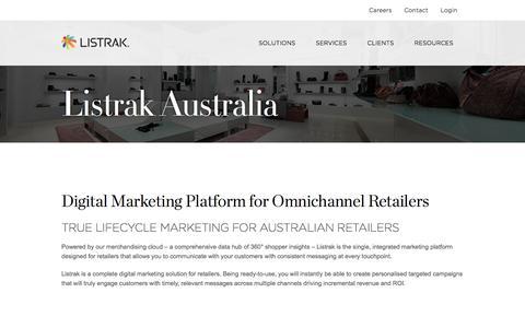 Cross-Channel Marketing Solutions   Serving Australian Retailers   Listrak
