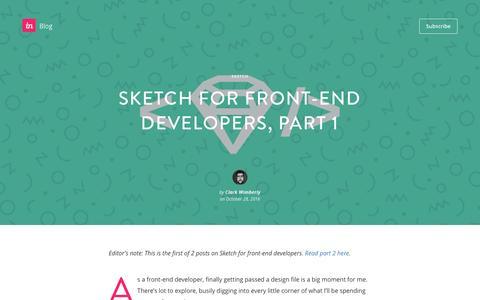 Screenshot of Blog invisionapp.com - Sketch for front-end developers, part 1 - InVision Blog - captured Dec. 14, 2016