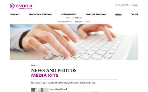Evonik media kits - Press conferences - Evonik Industries AG
