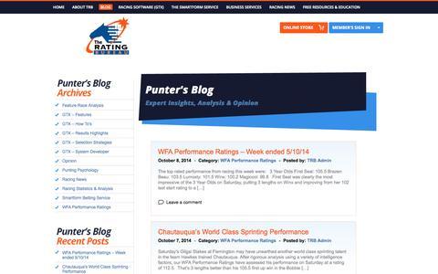 Screenshot of Blog trb.com.au - TRBBlog | The Rating Bureau - captured Oct. 9, 2014
