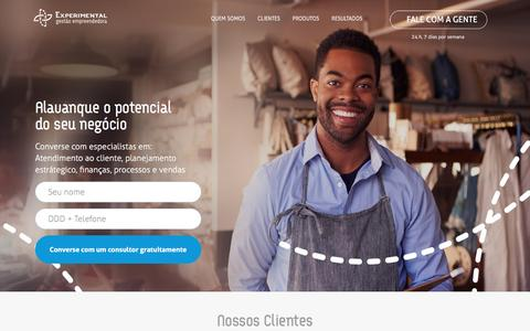 Screenshot of Home Page experimental.cc - Experimental | Consultoria Empreendedora - captured Nov. 14, 2016
