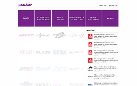 Screenshot of Home Page pqube.co.uk - Games Publishing, Distribution, Digital Download, Web, SEO, Design and Fulfilment Services | PQube - captured May 12, 2017