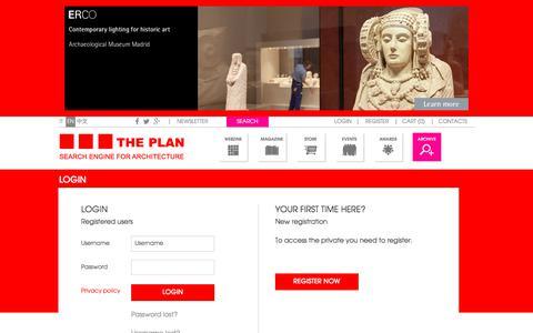 Screenshot of Login Page theplan.it - The Plan - captured Oct. 23, 2017