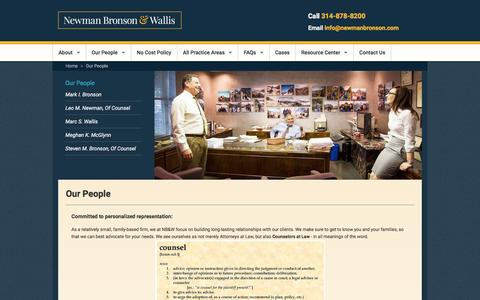 Screenshot of Team Page newmanbronson.com - Newman Bronson & Wallis | Accident & Injury Attorneys, St. Louis, MO - captured Feb. 24, 2016