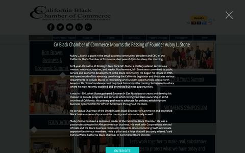 Screenshot of Home Page calbcc.org - CA Black Chamber of Commerce | Dedicated to Economic Empowerment - captured Dec. 13, 2018