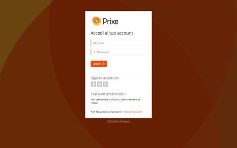 Screenshot of Login Page prixe.it - Prixe.it   Signin - captured Jan. 31, 2016