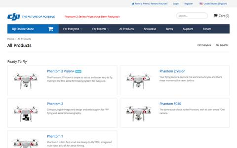 Screenshot of Products Page dji.com - All DJI Products - Flying Platform and Controllers for Multi-Rotor and Helicopter. iPad PC Ground Station, Zenmuse Camera Gimbal, Accessories | DJI - captured Sept. 18, 2014
