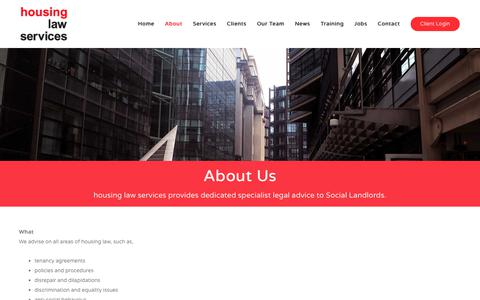 Screenshot of About Page housinglawservices.co.uk - About Us | Housing Law Services - captured Dec. 8, 2018